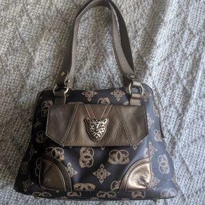 NWOT Sharif brown/bronze logo print shoulder bag